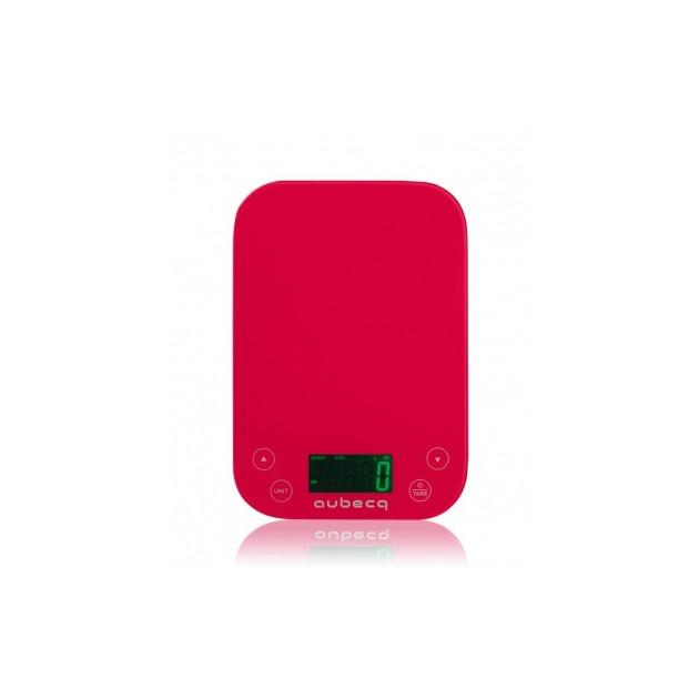 Balance de cuisine aubecq rouge 5kg 1g et minuteur peser Balance de cuisine rouge
