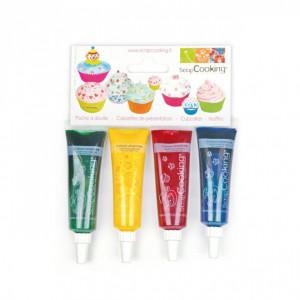 Colorants alimentaires liquides Scrapcooking (x4)