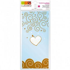 Sachets à bonbons (x5) - Coeur et entrelacs
