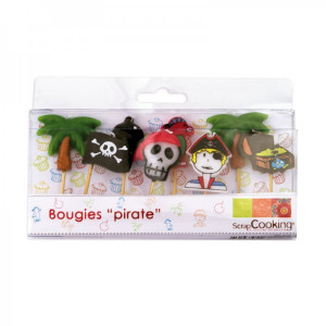 Bougies d'anniversaire ''Pirate'' (x8)