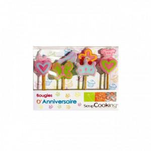 FIN DE SERIE Bougies d'anniversaire ''Princesse'' (x8)