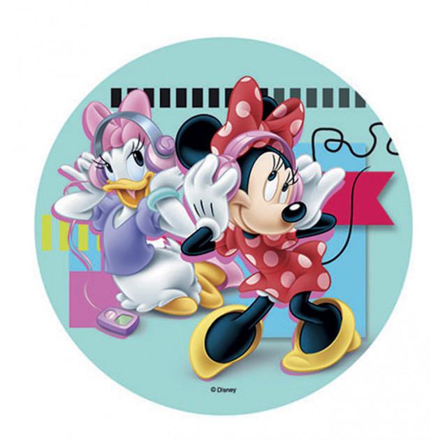 Disque Azyme Minnie et Daisy Musique 21 cm