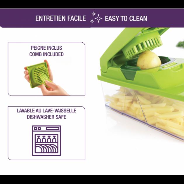 Peigne inclus pour nettoyage facilite