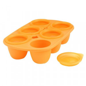 Pots bébé en silicone Babymoule® 6 portions 150ml Orange