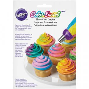 Adaptateur 3 couleurs ColorSwirl Wilton