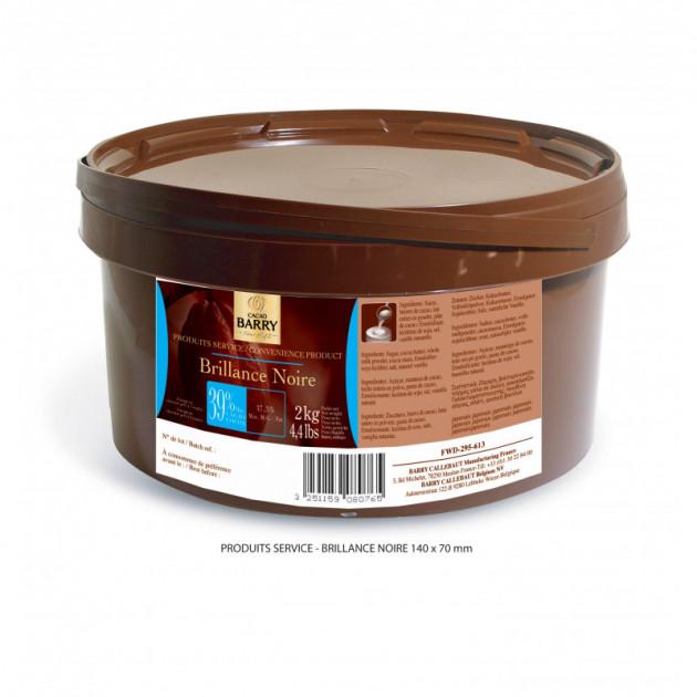 Glaçage chocolat brillance noire 2 kg Barry