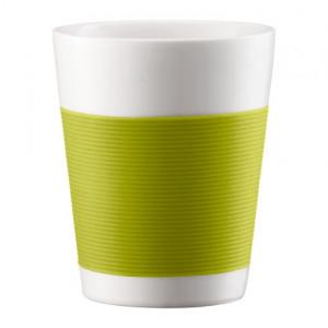 FIN DE SERIE Mug Canteen Double Paroi en Porcelaine 20 cl Vert - (x2)