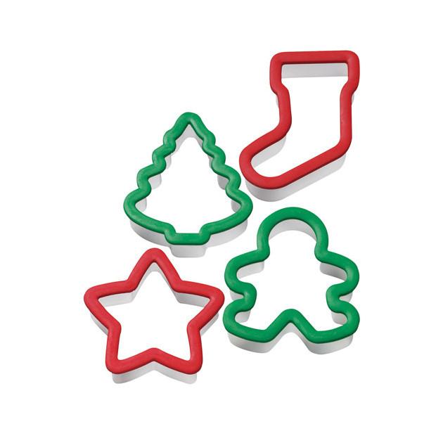 Emporte-Pièce Biscuit Noël 8,8 cm (x4) Wilton