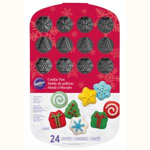 FIN DE SERIE Moule à biscuits Formes de Noël Wilton