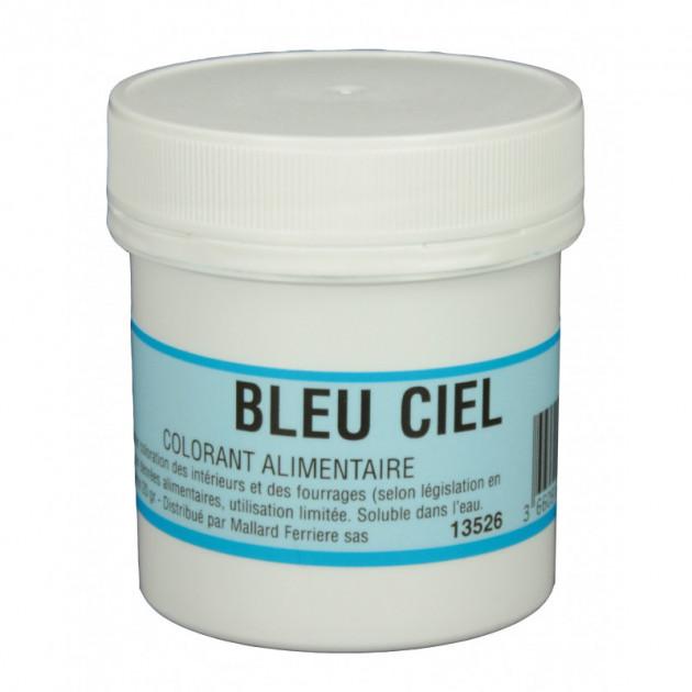 Colorant alimentaire Bleu Ciel E133 Poudre Hydrosoluble 20g