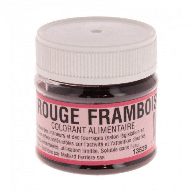Colorant alimentaire Rouge Framboise E122 Poudre Hydrosoluble 20g