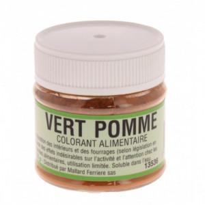 Colorant alimentaire Vert Pomme E102/E131/E129 Poudre Hydrosoluble 20g