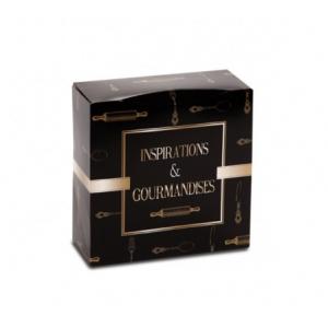 Boîte pâtissière Inspirations et Gourmandises - 18 x H 8 cm - (x50)