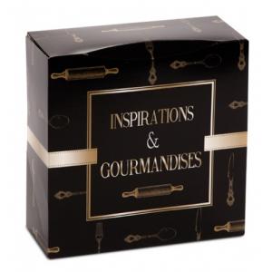 Boîte pâtissière Inspirations et Gourmandises - 32 x H 8 cm - (x50)
