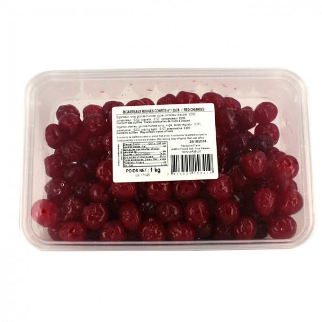 Boîte de Cerises Bigarreaux confites rouges