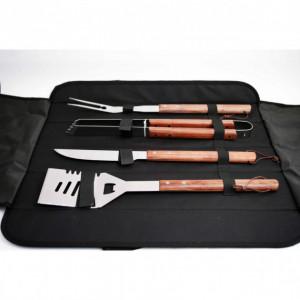 Set barbecue 4 pièces transportable