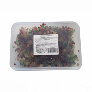 Cubes de Melon confit tricolores 1 kg