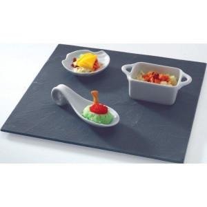 Assiette Ardoise carré 20 X 20 cm par LeBrun