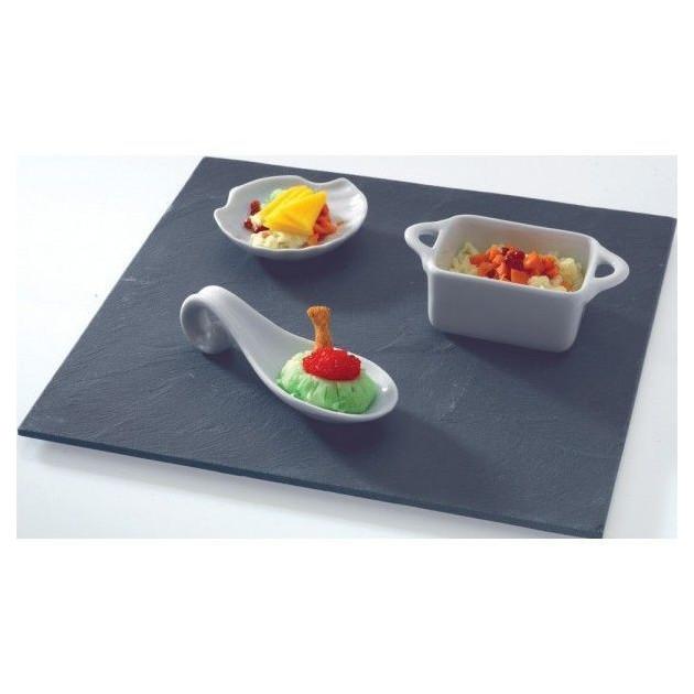 Assiette Ardoise carre 20 X 20 cm