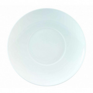 FIN DE SERIE Assiette plate Galice en Porcelaine Blanche 27 cm