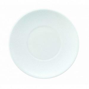 FIN DE SERIE Assiette plate à dessert Galuchat en Porcelaine Blanche 16 cm