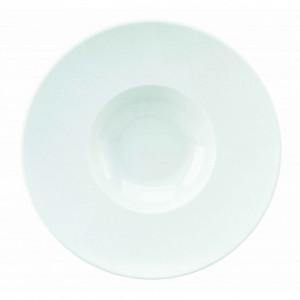 Assiette creuse Galuchat en Porcelaine Blanche 26.5 cm