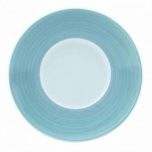 FIN DE SERIE Assiette à dessert plate Galice en Porcelaine Gris Perle (Aile) 16 cm
