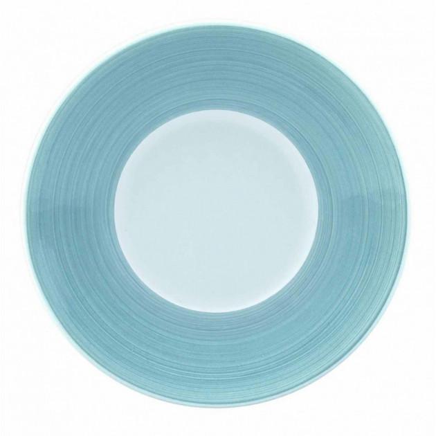 FIN DE SERIE Assiette plate Galice en Porcelaine Gris Perle (Aile) 16 cm