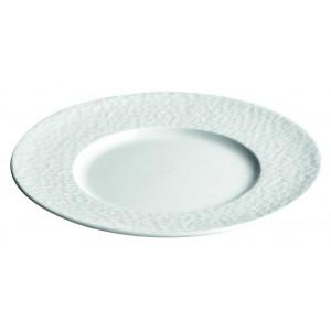 Assiette de présentation 32 cm (x6) plate Aqua grande aile en Porcelaine