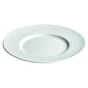 Assiette plate grande aile Aqua en Porcelaine 28 cm (x12)