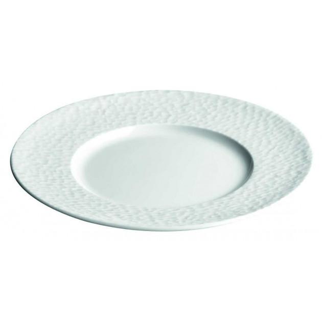 Assiette plate grande aile Aqua en Porcelaine 24.5 cm (x12)