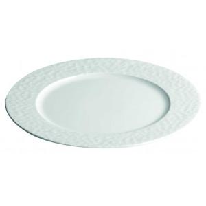 Assiette plate petite aile Aqua en Porcelaine 28 cm (x12)
