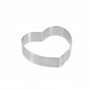 Cercle perforé forme coeur ø 8 cm de L'école Valrhona par De Buyer