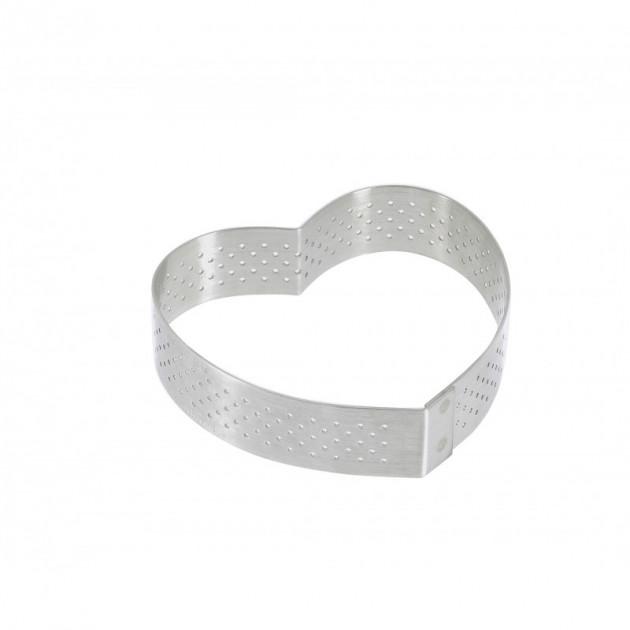 Cercle perfore forme coeur ø 8 cm de L'ecole Valrhona par De Buyer