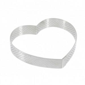 Cercle perforé forme coeur ø 12 cm de L'école Valrhona par De Buyer