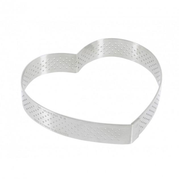 Cercle perfore forme coeur ø 12 cm de L'ecole Valrhona par De Buyer