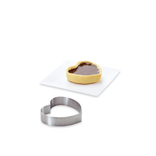 Cercle a tarte en forme de coeur 12 cm
