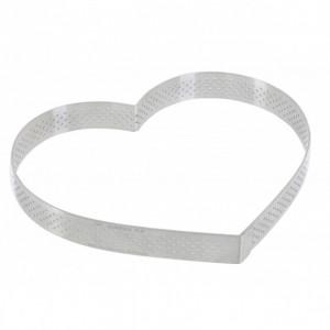 Cercle perforé forme coeur ø 18 cm de L'école Valrhona par De Buyer