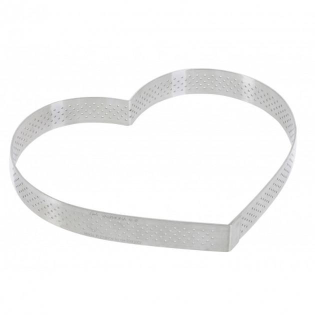 Cercle perfore forme coeur ø 18 cm de L'ecole Valrhona par De Buyer