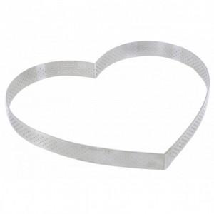 Cercle perforé forme coeur ø 22 cm de L'école Valrhona par De Buyer