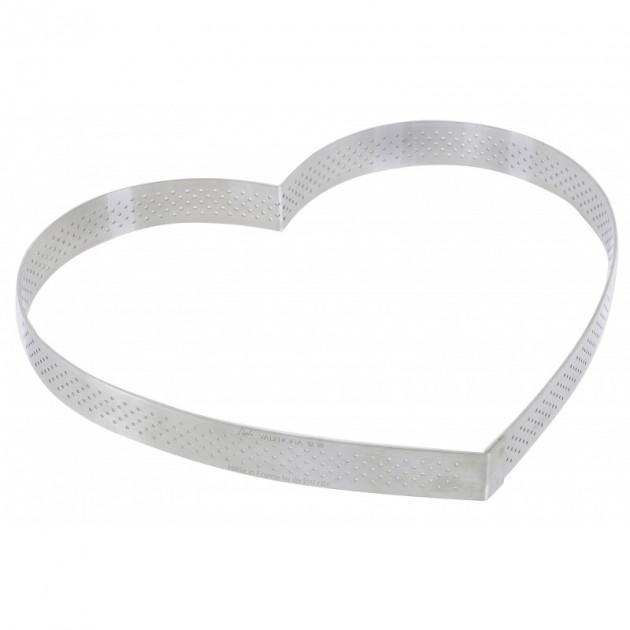 Cercle perfore forme coeur ø 22 cm de L'ecole Valrhona par De Buyer
