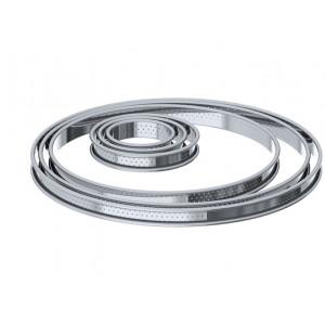Cercle à Tarte perforé Ø 28 cm Inox par De Buyer