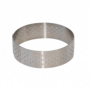 Cercle perforé Ø 15.5 cm de L'école Valrhona par De Buyer