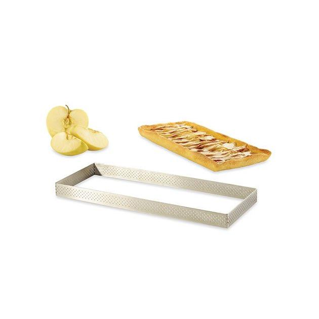 Cadre a tarte perfore rectangle 28 cm De buyer