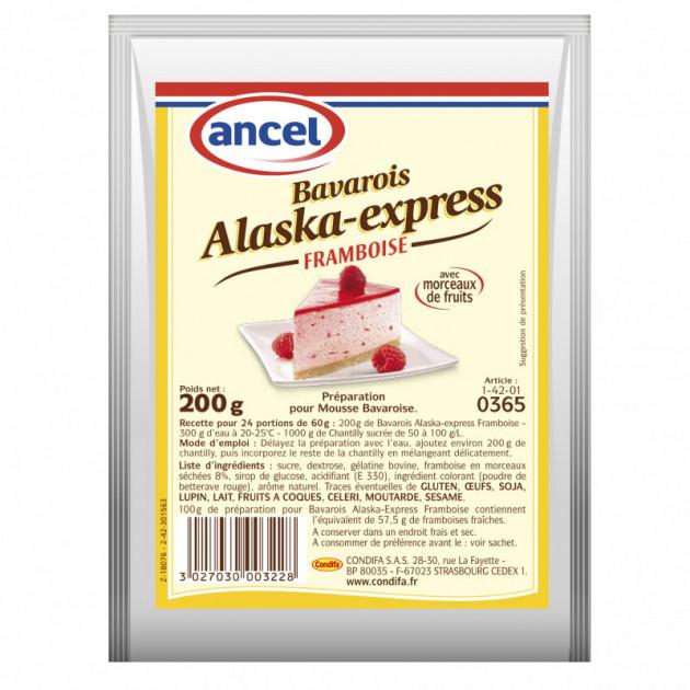 Preparation Mousse bavaroise framboise 200g Alaska-Express Ancel
