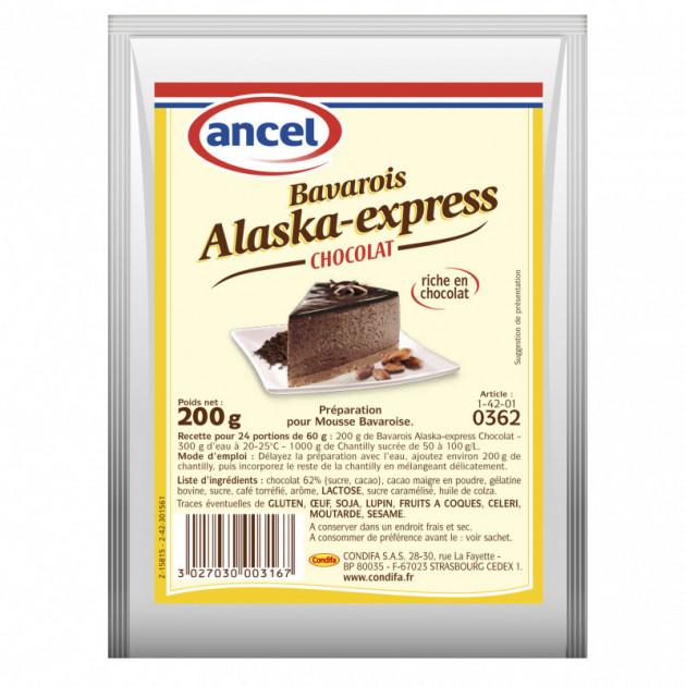 Preparation Mousse bavaroise Chocolat 200g Alaska-Express Ancel