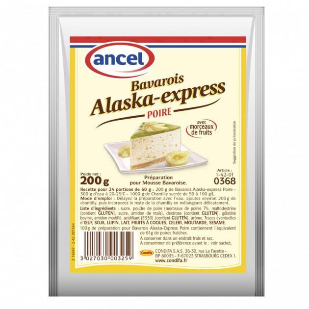 Preparation Mousse bavaroise Poire 200g Alaska-Express Ancel