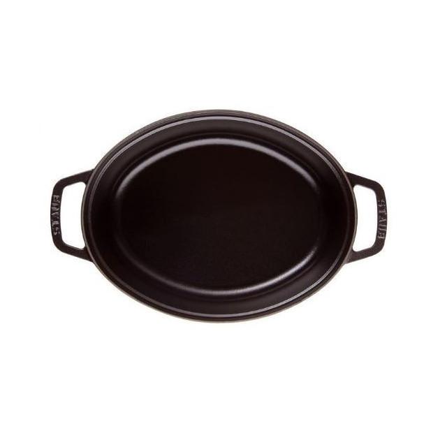 Cocotte ovale noire en fonte 41 cm 12 l Staub