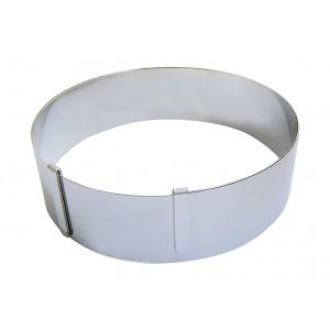 Cercle à entremets extensible 16 à 36 cm en inox de Buyer