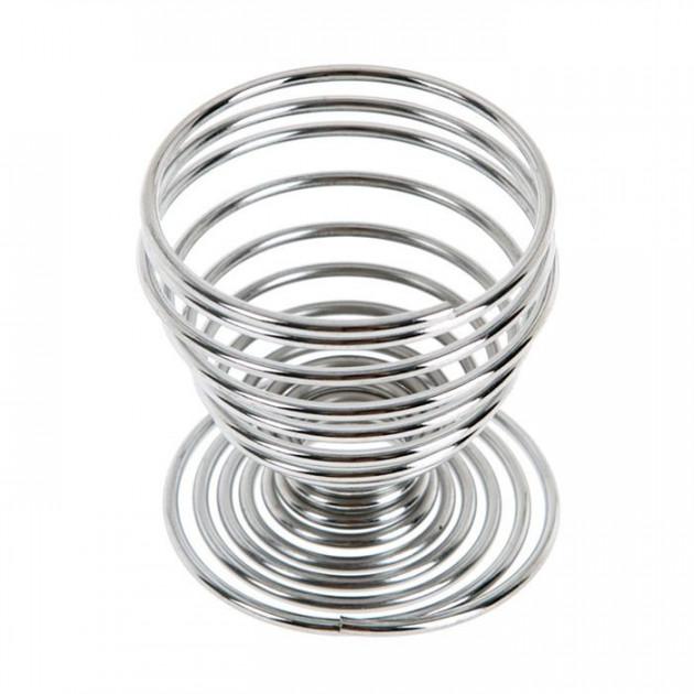 Coquetier spirale chrome